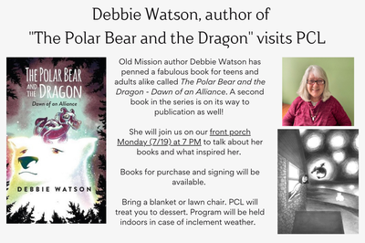 """Debbie Watson, author of  """"The Polar Bear and the Dragon"""" visits PCL"""