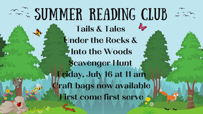 Tales & Tails Under the Rocks & Into the Woods Scavenger Hunt